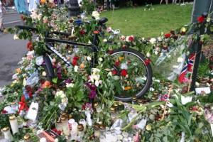 En blomstersykkel.